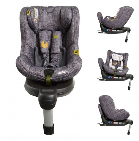 Cosatto Come And Go 360 Spin Group 0+ / 1 Isofix Car Seat - Grey Dawn Chorus