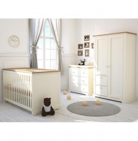 Little Acorns Ava 4 Piece Nursery Room Set Ivory Oak