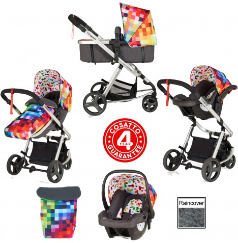 Cosatto Giggle Mix Pramette Travel System - Pixelate