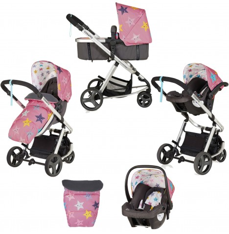 Cosatto Giggle Mix Pramette Travel System - Happy Stars