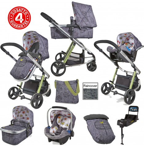 Cosatto Giggle 2 Travel System & Isofix Base - Dawn Chorus