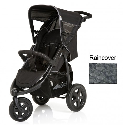 Hauck Viper 3 Wheel Pushchair - Caviar / Grey