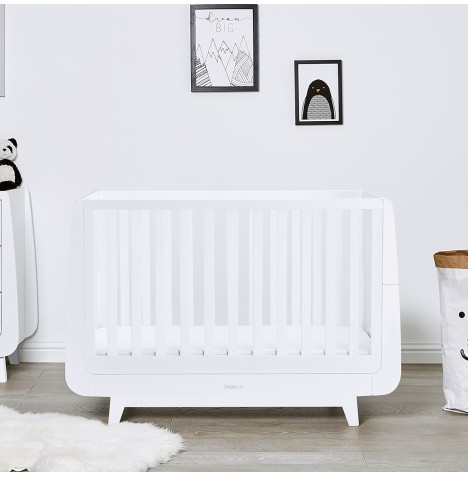Snuz SnuzKot Luxe Cot Bed & Maxi Air Cool Mattress - White