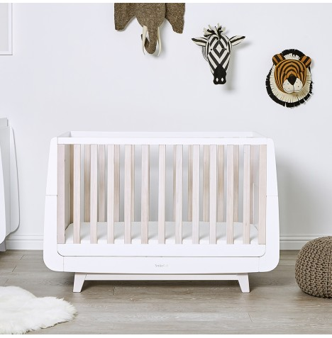 Snuz SnuzKot Luxe Cot Bed & Maxi Air Cool Mattress - White Wash