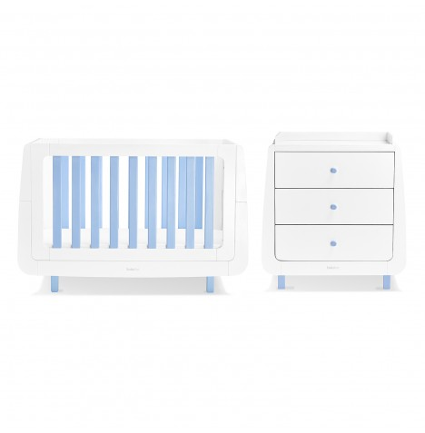 Snuz SnuzKot Mode 4 Piece Nursery Furniture Room Set - Blue