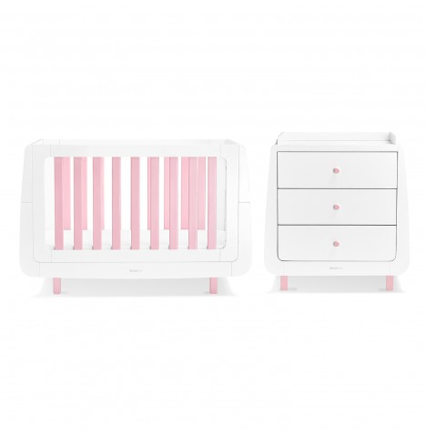 Snuz SnuzKot Mode 4 Piece Nursery Furniture Room Set - Pink