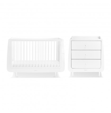 Snuz SnuzKot Skandi 4 Piece Nursery Furniture Room Set - White