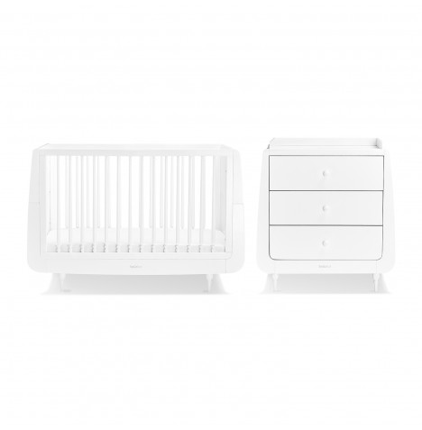 Snuz SnuzKot Rococo 4 Piece Nursery Furniture Room Set - White