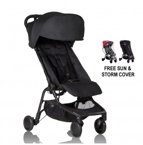 Mountain Buggy Nano Stroller With All Weather Cover Set - Black