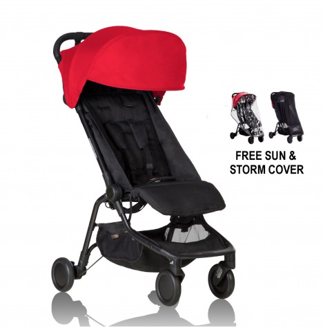 Mountain Buggy Nano Stroller With All Weather Cover Set - Ruby