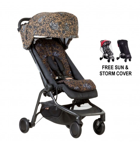 Mountain Buggy Nano Stroller With All Weather Cover Set - Rooster