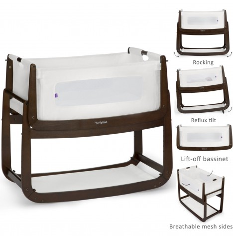 Snuz SnuzPod3 Bedside Crib 3 in 1 With Mattress - Espresso..