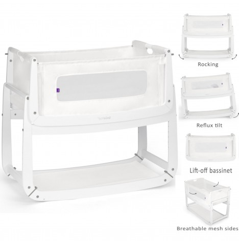 Snuz SnuzPod3 Bedside Crib 3 in 1 With Mattress - White..