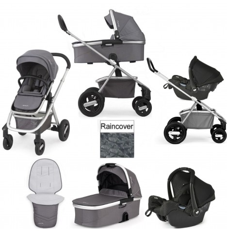 Nuna Ivvi 3 In 1 Pram / Pushchair Gemm Travel System - Graphite..