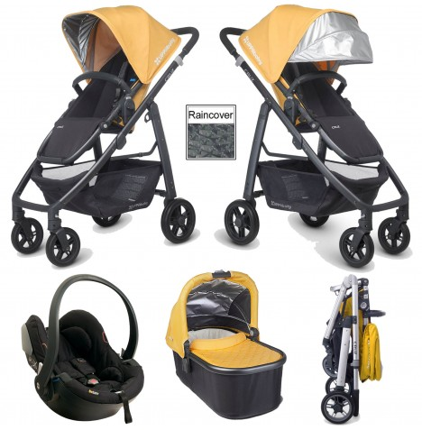 Uppababy Cruz Travel System & Carrycot - Maya Yellow