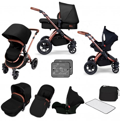 Ickle bubba Special Edition Stomp V4 All In One Travel System - Midnight Bronze
