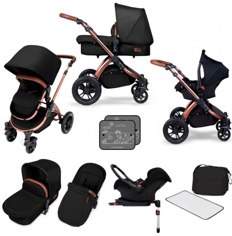 Ickle bubba Special Edition Stomp V4 All In One Travel System & Isofix Base - Midnight Bronze