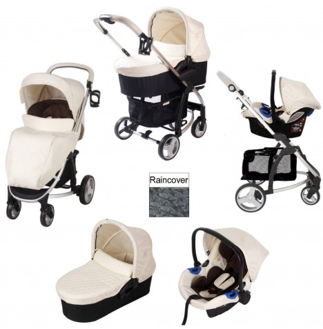 My Babiie MB200+ *Billie Faiers Collection* Travel System & Carrycot - Cream