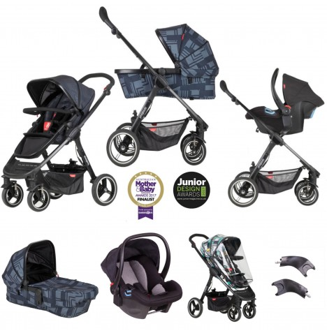 Phil & Teds Mod Travel System Bundle - Noir