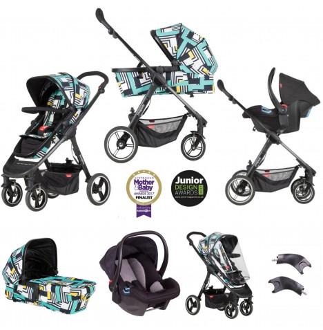 Phil & Teds Mod Travel System Bundle - Abstract