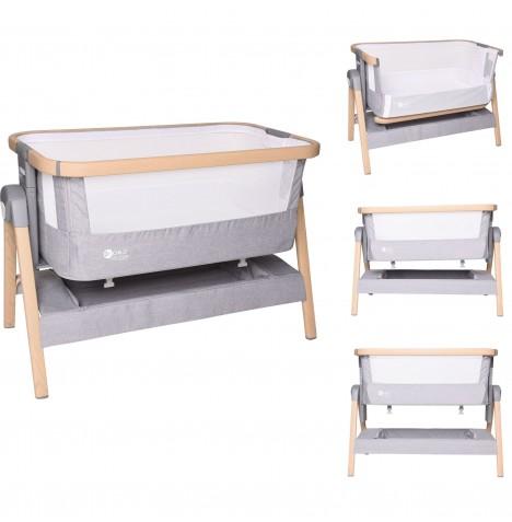My Child AirCare Bedside Crib - Grey