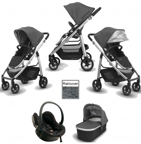 Uppababy Cruz (2018) Travel System (Includes x1 BeSafe Car Seat) & Carrycot - Jordan