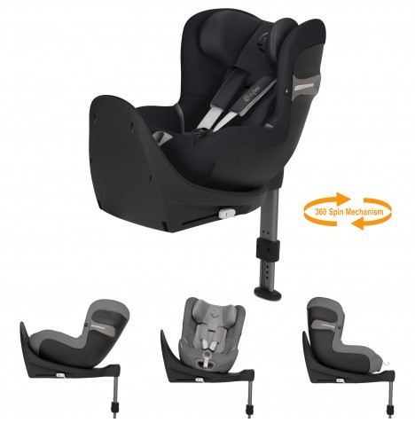 Cybex Sirona S i-Size Car Seat (inc Base) - Lavastone Black