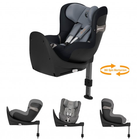 Cybex Sirona S i-Size Car Seat (inc Base) - Pepper Black