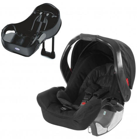 Graco Junior Baby Group 0+ Car Seat & Auto Base - Midnight Black