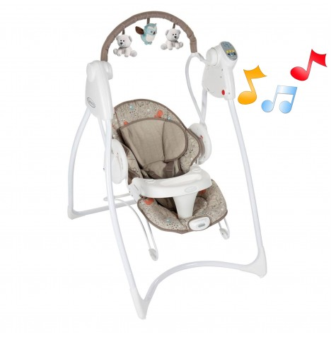 Graco Swing 'n' Bounce 2 in 1 Swing - Woodland Walk..