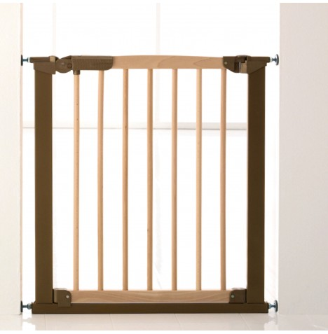 Babydan Avantgarde Indicator Gate With x2 Extentions - Beech / Brass