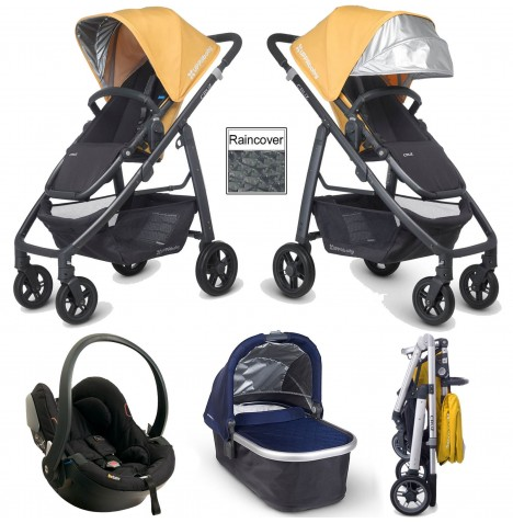 Uppababy Cruz Travel System & Carrycot - Maya Yellow / Taylor Navy