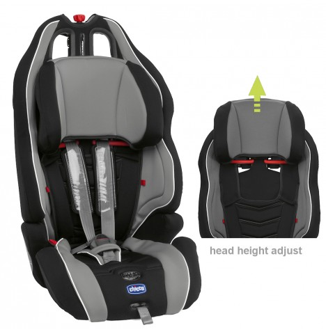 new chicco neptune grey black childs booster group 123 car seat with harness ebay. Black Bedroom Furniture Sets. Home Design Ideas