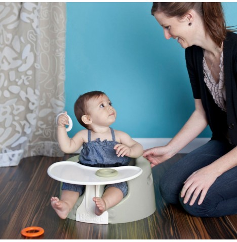Bumbo Combo 2-in-1 (Floor Seat & Play Tray) - Cool Grey