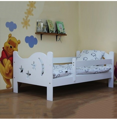 4Baby Camilla Junior / Toddler Bed With Deluxe Foam Mattress - White