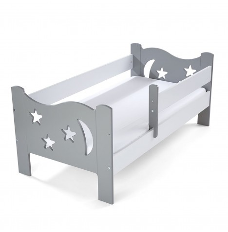 4Baby Camilla Junior / Toddler Bed With Deluxe Foam Mattress - Grey