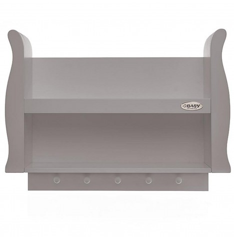 Obaby Stamford Sleigh Shelf - Taupe Grey