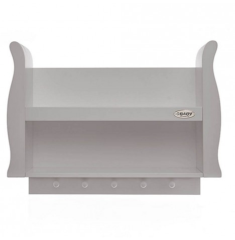 Obaby Stamford Sleigh Shelf - Warm Grey