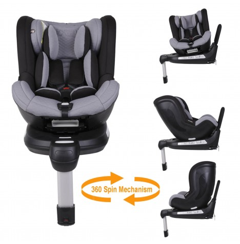 Mountain Buggy Safe 360 Rotate Group 0+/1 Isofix Car Seat - Silver..