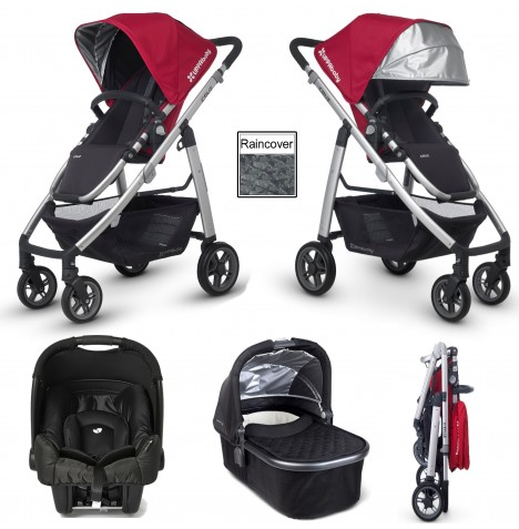 Uppababy Cruz (Gemm) Travel System & Carrycot - Denny Red / Jake Black