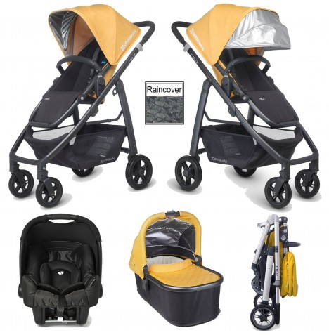 Uppababy Cruz (Gemm) Travel System & Carrycot - Maya Yellow