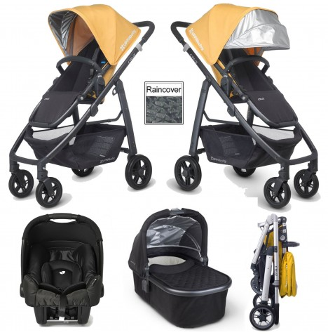 Uppababy Cruz (Gemm) Travel System & Carrycot - Maya Yellow / Jake Black