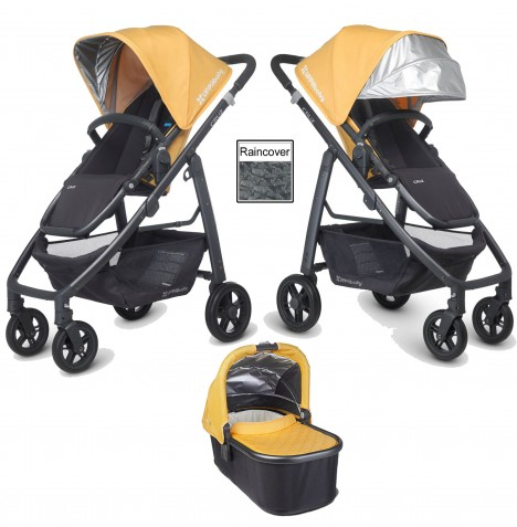 Uppababy Cruz Pushchair & Carrycot - Maya Yellow