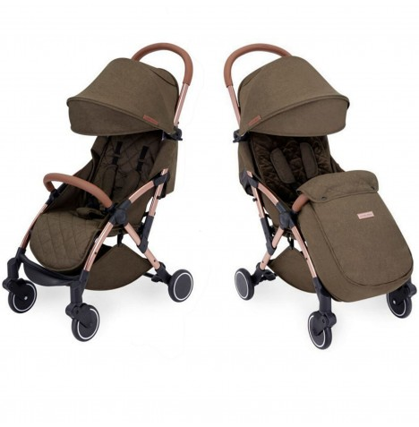 Ickle Bubba Globe Max Stroller - Khaki On Rose Gold