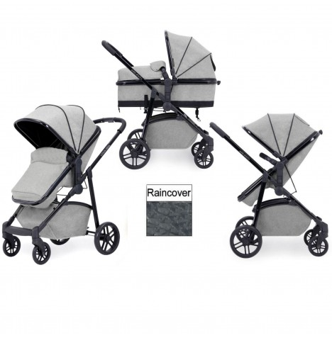 Ickle Bubba Moon 2 in 1 Pushchair - Light Grey