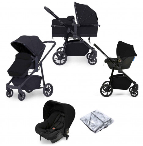 Ickle Bubba Moon 3 in 1 Travel System - Black