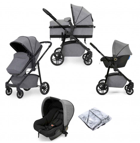 Ickle Bubba Moon 3 in 1 Travel System - Grey