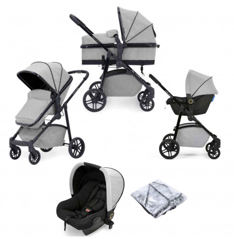 Ickle Bubba Moon 3 in 1 Travel System - Light Grey