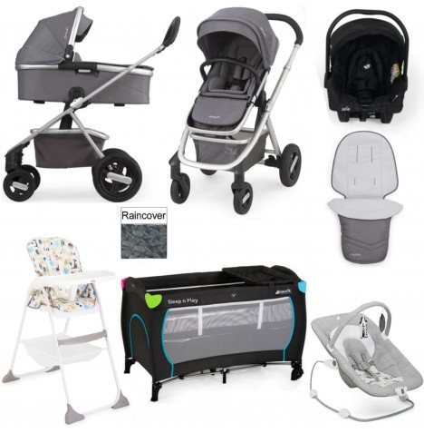 Nuna/Joie Ivvi Everything You Need Gemm Travel System Bundle - Graphite..