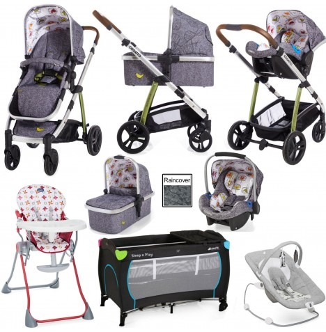 Joie / Cosatto Wow Everything You Need Travel System Bundle - Dawn Chorus